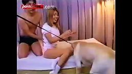 lucky Dog Licking And Fucking Best Pussy